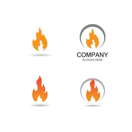Fire flame  template icon illustration design