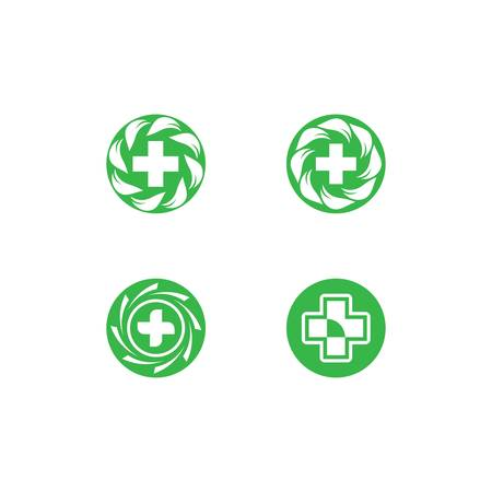 Medical  template icon illustration design