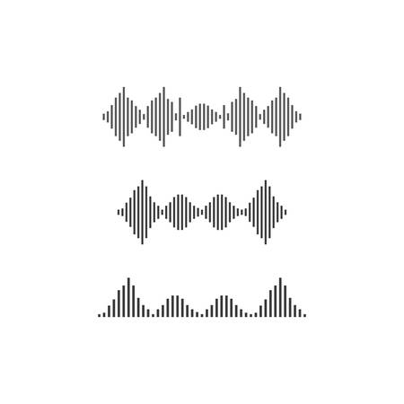 Sound wave template  icon illustration Ilustrace