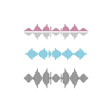 Sound wave  template  icon illustration