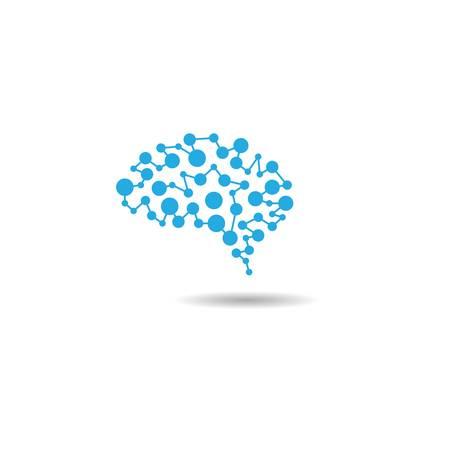 Brain logo template vector icon illustration design