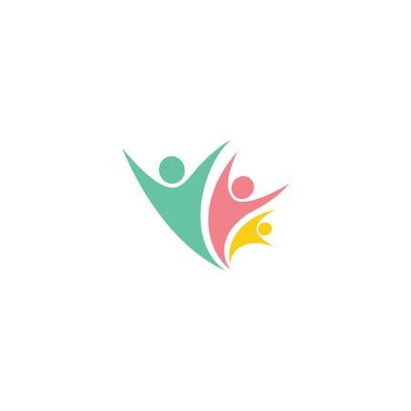 Adoption and community care logo template vector icon illustration design