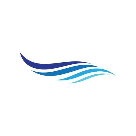 Water wave logo vector icon illustration design Ilustracja