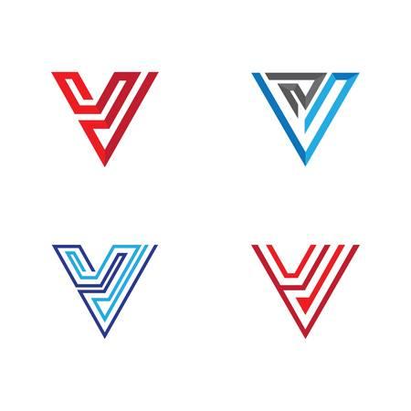 V letter logo vector icon illustration design