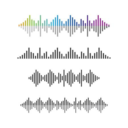 Onde sonore logo modèle icône vector illustration
