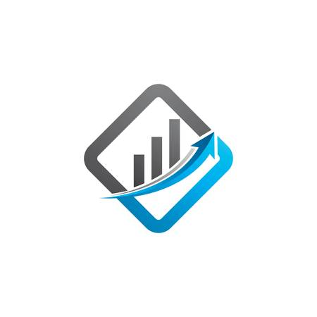 Business finance logo template vector icon illustration