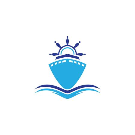 Cruise ship symbol vector icon illustration