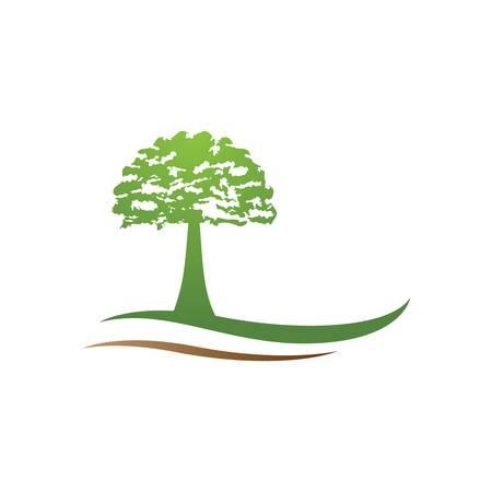 Tree logo template vector icon illustration design Illustration