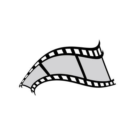 Conception d'illustration d'icône de vecteur de pellicule