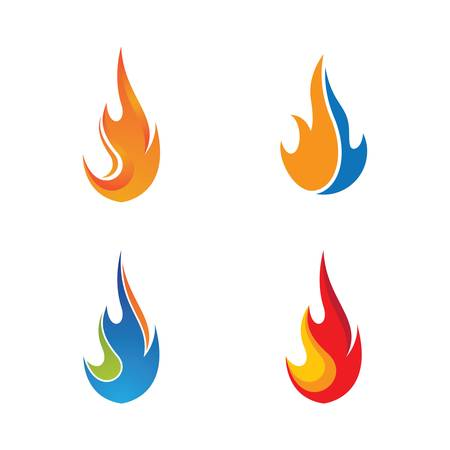 Fire flame logo template vector icon illustration design 스톡 콘텐츠 - 149010301