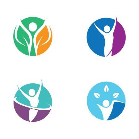 Healthy life logo template vector icon illustration design Vectores