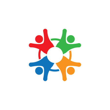 Teamwork vector icon illustration design