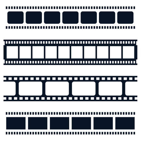 Filmstreifenvektorikonen-Illustrationsdesign Vektorgrafik