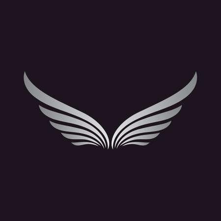Wing vector icon illustration design