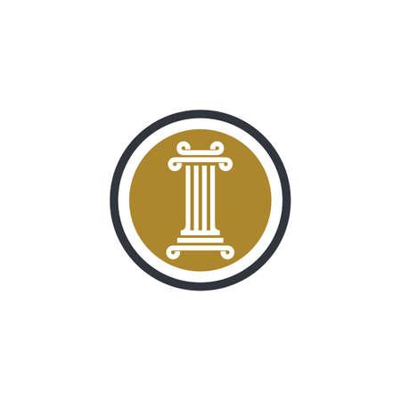 Pillar logo template vector icon illustration design Illusztráció