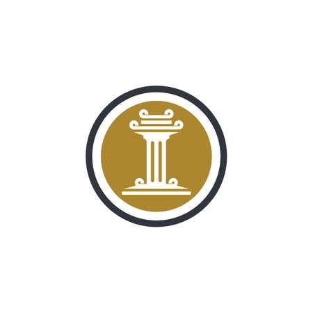 Pillar logo template vector icon illustration design Stock fotó - 150087435