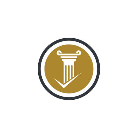 Pillar logo template vector icon illustration design Stock fotó - 150087521