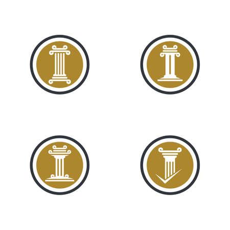 Pillar logo template vector icon illustration design Stock fotó - 150087538