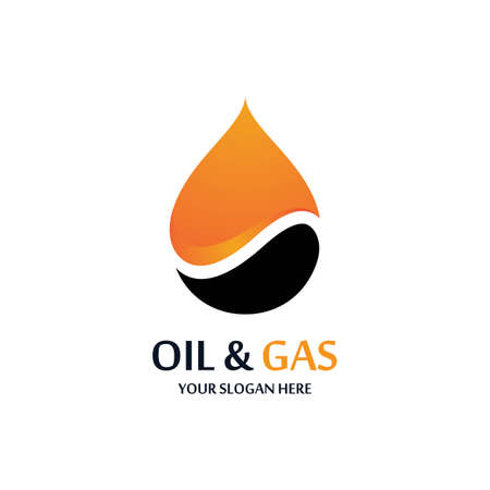 Oil and gas icon vector illustration