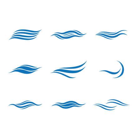 Wave symbol vector icon illustration design 向量圖像