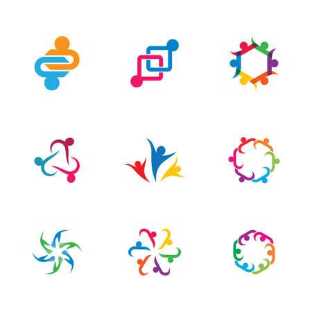 Community vector icon illustration design