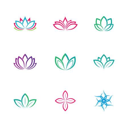 Lotus symbol vector icon illustration
