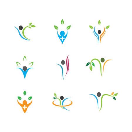 Wellnes symbol vector icon illustration