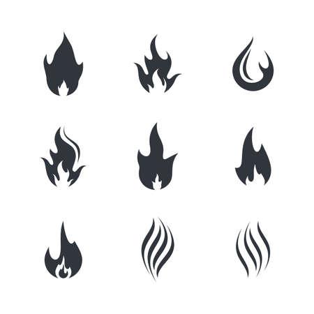 Fire symbol vector icon illustration Vettoriali