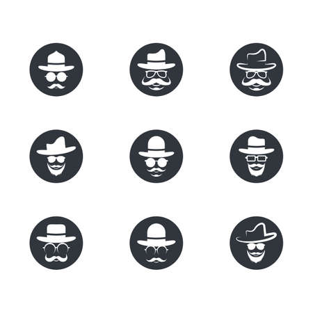 Man face character symbol illustration design Archivio Fotografico - 150168025