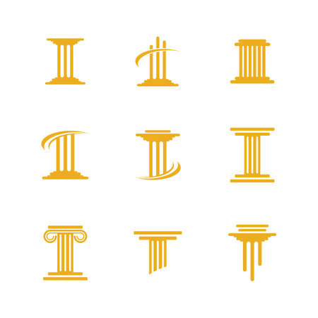 Pillar icon symbol illustration design Illusztráció