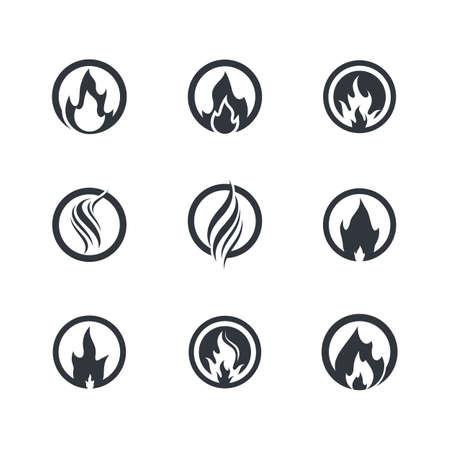 Fire symbol  icon illustration