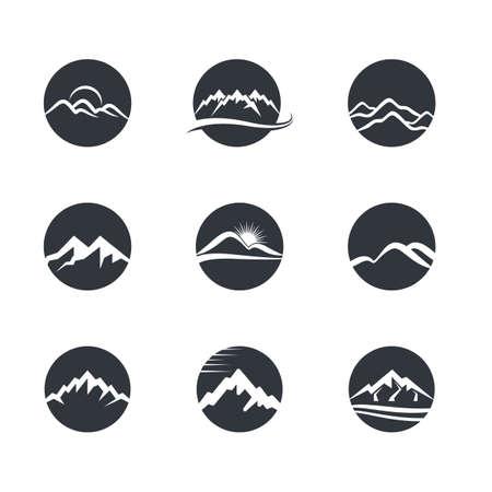 Mountain icon illustration design Stock Illustratie