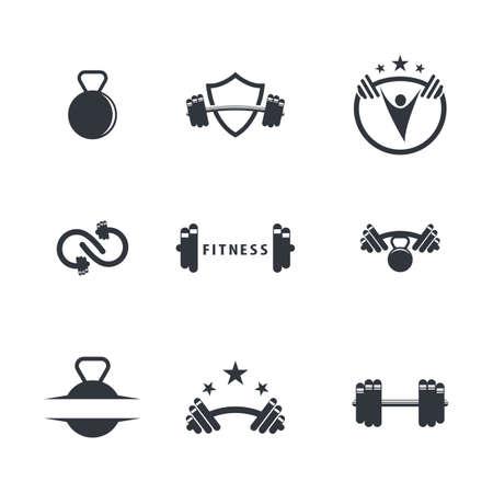 Fitness symbol illustration design