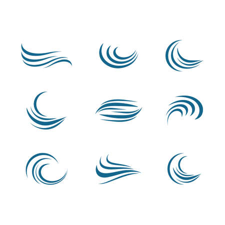 Wave symbol icon illustration design