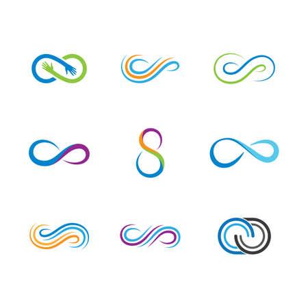 Infinity vector icon illustration design  イラスト・ベクター素材