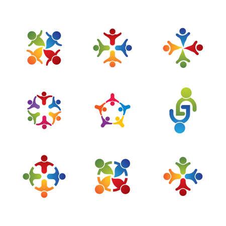Community vector icon illustration design Ilustracje wektorowe