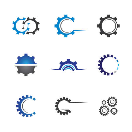 Gear symbol vector icon illustration 일러스트