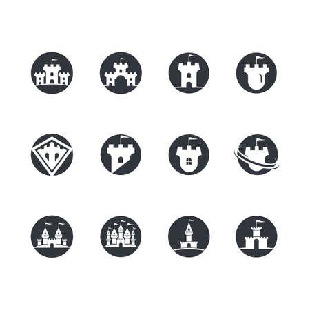 Castle symbol vector icon illustration design
