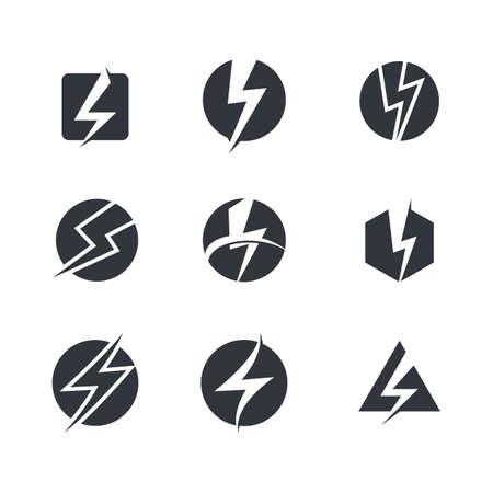 Thunderbolt vector icon illustration design