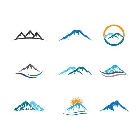 Mountain vector icon illustration design