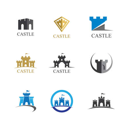 Castle symbol vector icon illustration design