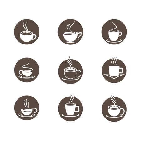 Coffee cup symbol vector icon illustration design