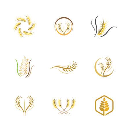 Wheat vector icon illustration design Illusztráció