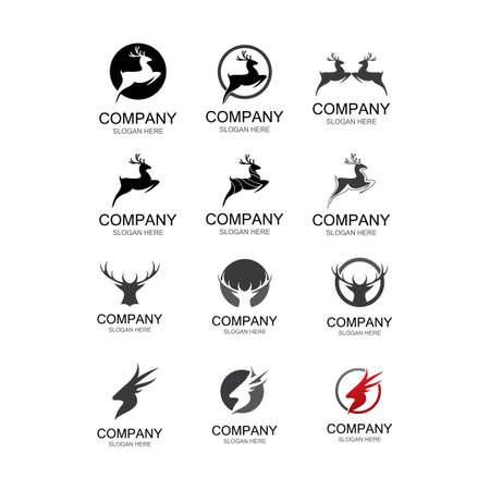 Deer symbol illustraation design