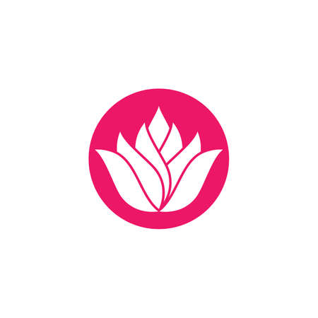 Lotus symbol vector icon illustration Illusztráció