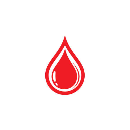 Blood vector icon illustration design Illustration
