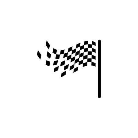 Flag race vector icon illustration design