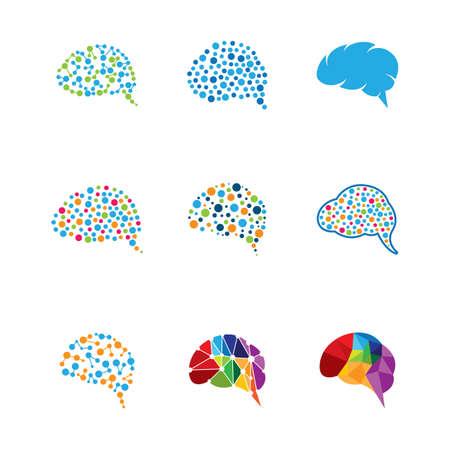 Brain symbol vector icon illustration