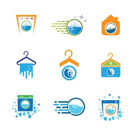 Laundry symbol illustration design