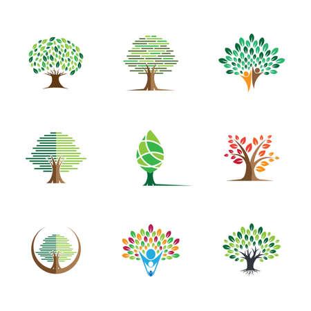 Tree symbol vector icon illustration